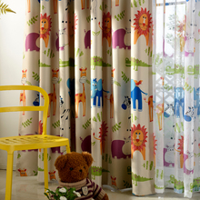Cartoon Animals Curtain
