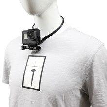 Cordão de montagem de pescoço para gopro hero, 8 7 6 5 4 3 + 3 xiaomi yi 4k sjcam acessórios para câmera de ação sj4000 eken h9/r