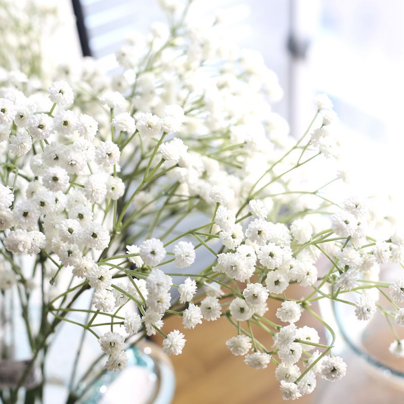 Artificial Flowers False Gypsophila Wedding Decoration Photo Props Flower Heads Branch fleur <font><b>artificielle</b></font> sztuczne kwiaty image