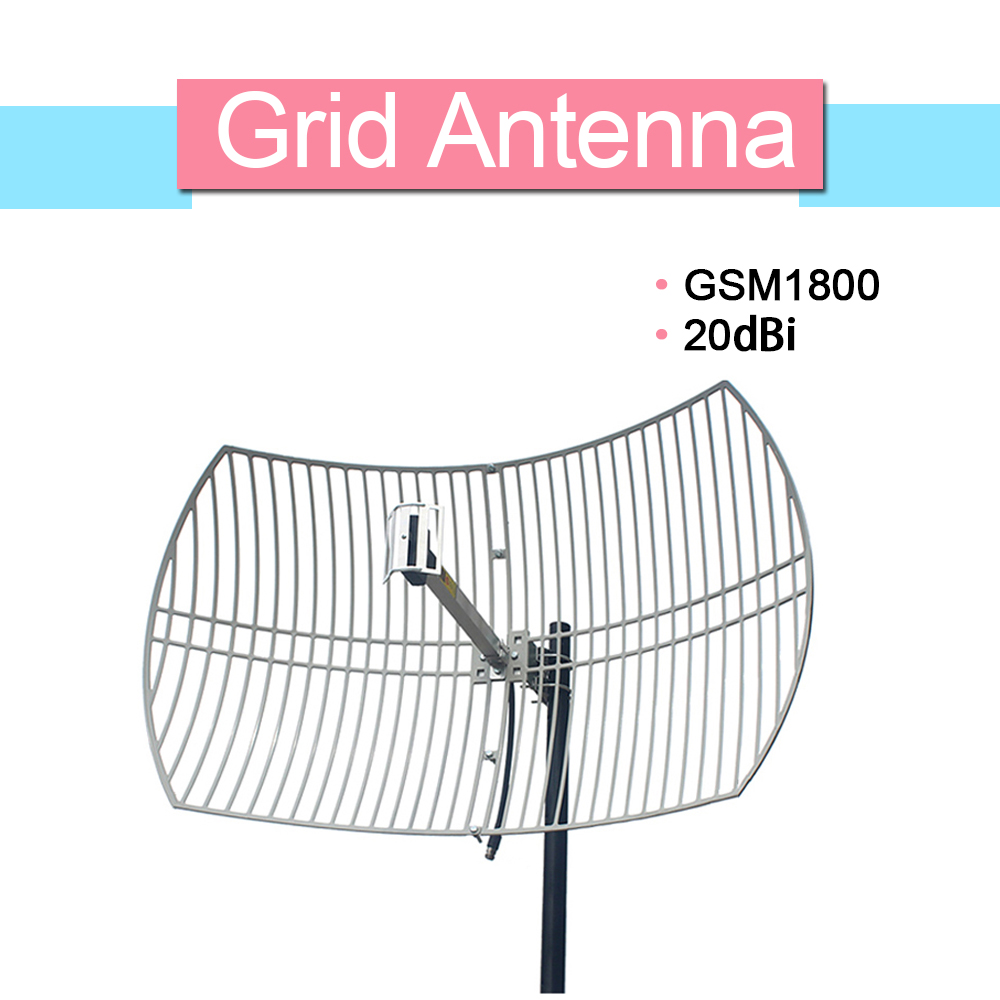 20dBi High Gain External Grid Antenna 1710-1880mhz Work For AWS 1700 DCS/LTE 1800 Mobile Phone Signal Booster N Female Connector