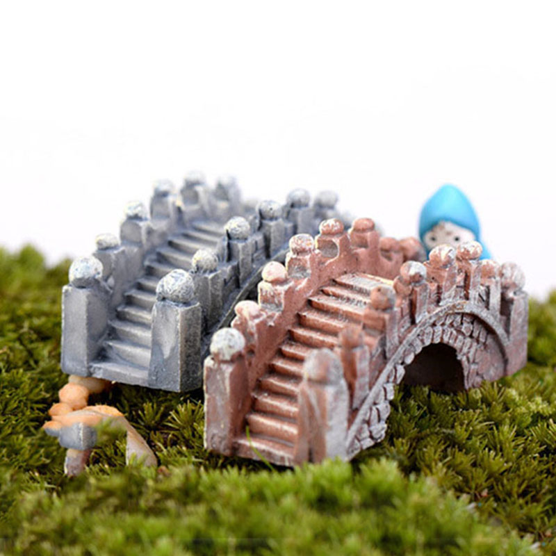 Stone Bridge Figurine Fairy Craft Ornaments Home Gardens Deco Micro Landscapes
