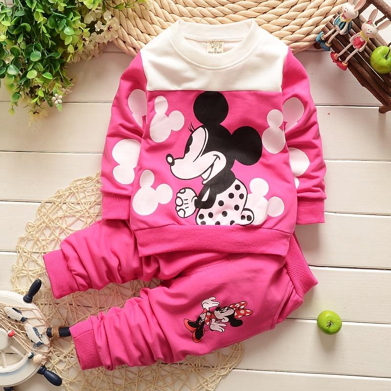 new children baby clothing sets 100% cotton Sweater T shirt+pants 2pcs clothes suit cartoon kids sport sets baby girl clothes