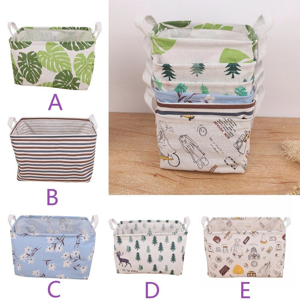 Storage-Bag Baskets Foldable Deaktop Waterproof Almacenamiento--20 Washing-Clothes Canvas