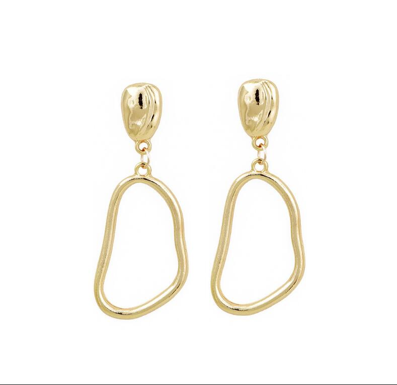CXW Alloy irregular earrings for woman euramerican style individual character popular drop A02