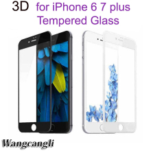все цены на For iPhone 7 3D protective film surface full coverage tempered glass iPhone 6 6s screen protection film protective film iPhone 7 онлайн
