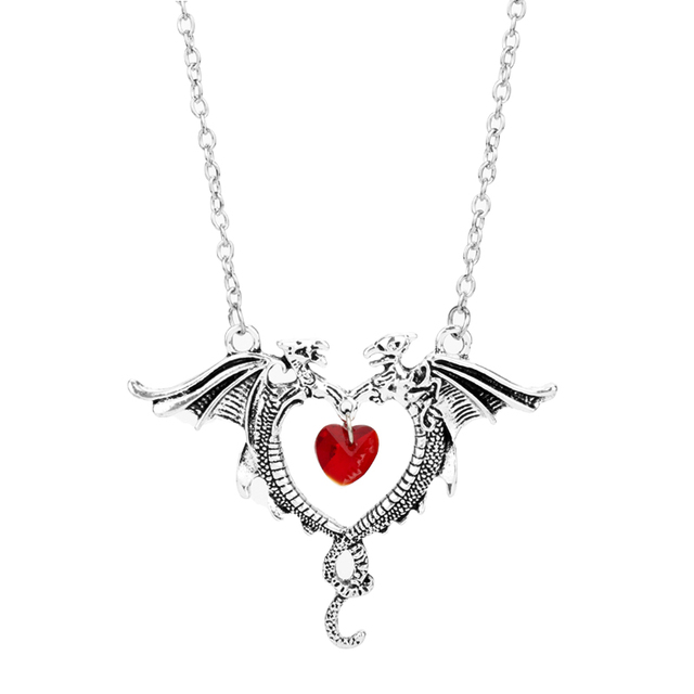 Women S Fashion Crystal Heart Necklace Movie Game Of Thrones