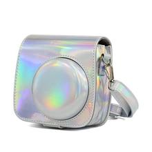 Защитный чехол для Fuji Fujifilm Instax Mini 9 Mini 8 8 +, чехол для мгновенной печати, сумка для камеры, лазерный аксессуар для фотографии Aurora