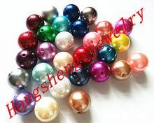 20mm 110 sztuk/partia mix kolorów chunky akrylowe perły koraliki do Chunky naszyjnik tworzenia biżuterii