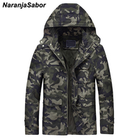 NaranjaSabor Autumn Winter Men's Military Jackets Camouflage Thick Men Casual Outerwear Windbreakers Army Tactical Clothing N441