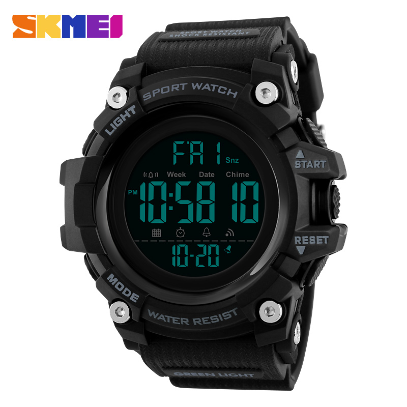 SKMEI Mænd Outdoor Sports Watch Countdown 2Time Alarm Fashion - Mænds ure - Foto 2