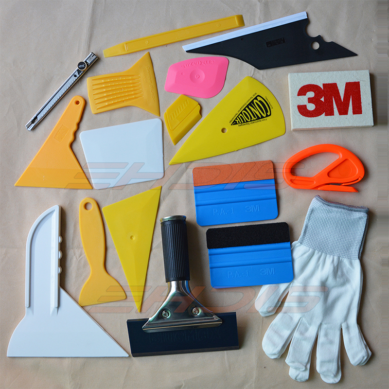 EHDIS Vinyl Car Wrap Kit Tools Auto Window Tint Tools Bluemax Squeegee 3M Squeegee Art Knife Gloves for Car Wrapping Multi Tools