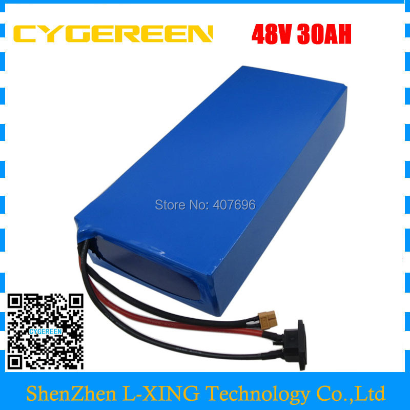 Free customs duty 48V electric bike battery 48v 30ah lithium scooter battery use 3.7V 5AH 26650 cell 50A BMS with 3A Charger electric bike battery 48v 30ah 2000w for samusng cell electric bicycle battery triangle lithium ion battery pack with 50a bms