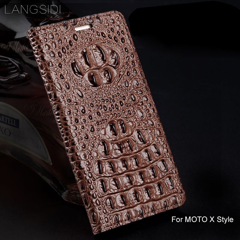 wangcangli genuine leather flip phone case Crocodile back texture For MOTO X Style All-handmade phone casewangcangli genuine leather flip phone case Crocodile back texture For MOTO X Style All-handmade phone case
