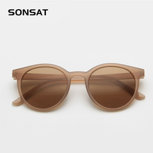 New women's retro small round frame sunglasses trend milk te