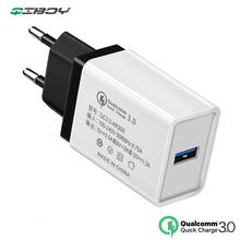 5V QC 3.0 USB Travel Charger Mobile Phone Wall Charger Quick Charge EU Plug AC Power Fast Charger For iPhone 7 Xiaomi Mi9 Huawei
