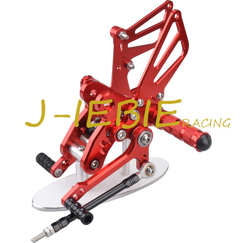 CNC Racing Rearset Adjustable Rear Sets Foot pegs Fit For Suzuki GSXR1300 Hayabusa 1999-2016 RED titanium cnc aluminum racing adjustable rearset foot pegs rear sets for yamaha mt 07 fz 07 mt07 fz07 2013 2014 2015 2016
