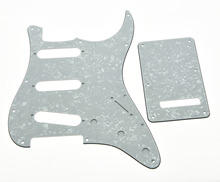 KAISH ST  Pickguard,Back Plate and Screws SSS White Pearl