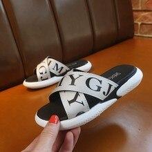 Boys sandals 2019 new Korean version of the soft bottom big childrens beach shoes girls fashion non-slip slippers