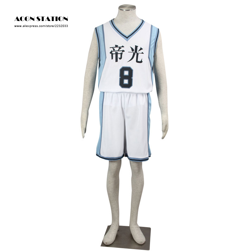 Hot Selling Japanese Anime Kuroko no Basket Kise Ryota TEIKO NO.8 Number 8 basketball jerseys Cosplay Costumes For Kid and Adult