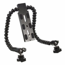 SLR Flexible Dual Arm Hot shoe Flash Bracket For CANON FOR NIKON For PENTAX for MACRO Digital Camera(China)