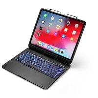 עם התאורה האחורית 360 סיבוב 12.9 Bluetooth עם התאורה האחורית אלומיניום מקלדת Case Pro iPad עבור iPad החדש פרו 12.9 אינץ מקלדת הכיסוי Tablet (3)