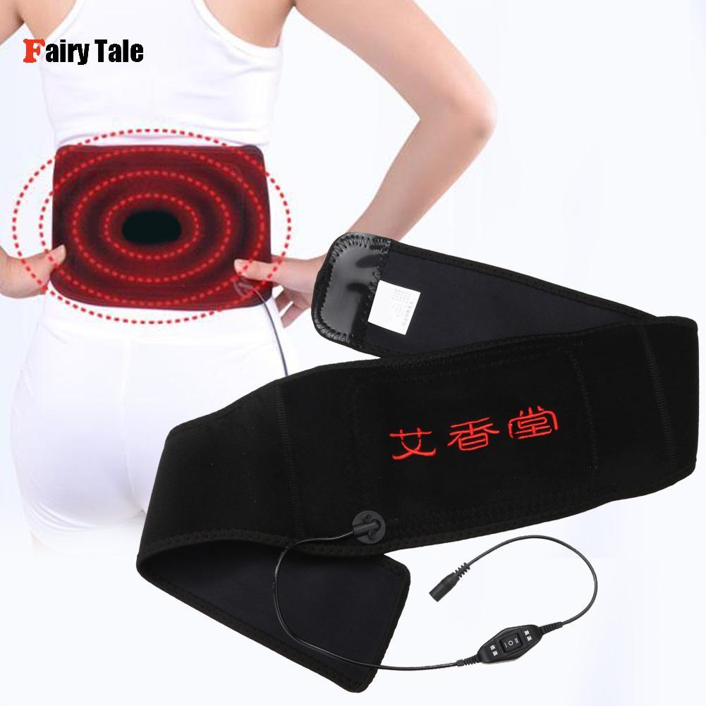 Ajenjo Calefacción Del Infrarrojo Lejano Terapia Magnética de La Cintura Brace Cinturón Protector de Ayuda de La Cintura Cuidado de La Salud Masajeador Ajustable
