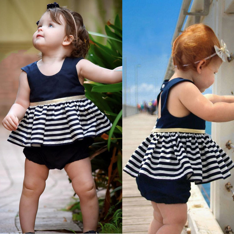 5e9bd90809e22 US $4.47 5% OFF|pudcoco Newborn Dresses For Baby Girls Striped Toddler  Christening Gown Kid Special Occasion Wear Infant Birthday Dress  Clothing-in ...