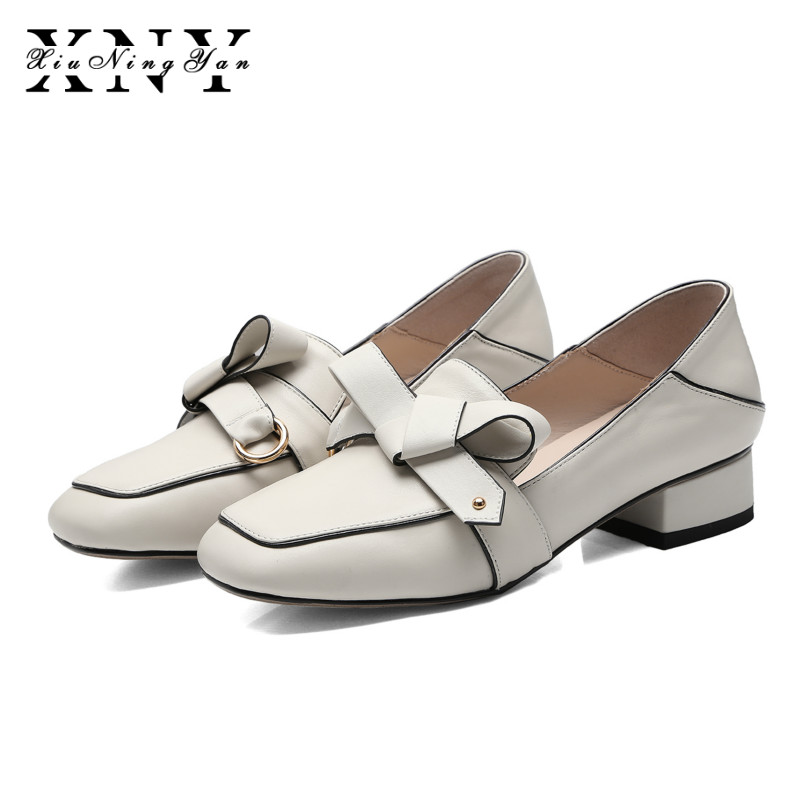 XiuNingYan Women Flats Genuine Leather Casual Shoes Female Slip on Shoes Woman Oxford Vintage Flat Spring Autumn Fashion Loafers lovexss casual oxford shoes fashion metal decoration shallow shoes black purple genuine leather flats woman casual oxford shoes