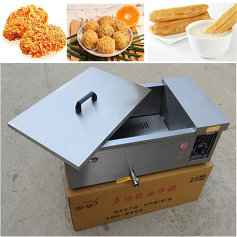 Deep fryer high quality commercial home use stainless steel potato chicken pressure fryer 25L   ZF big commercial deep fryer electric spiral potato fryer 25l zf