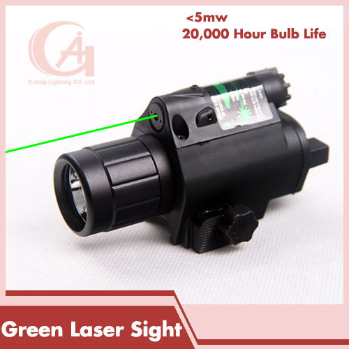 Rifle Tactical LED Flashlight Green Dot Laser Sight Combo 200LM 650nm For Pistol Guns Glock Airsoft HT8-0001G