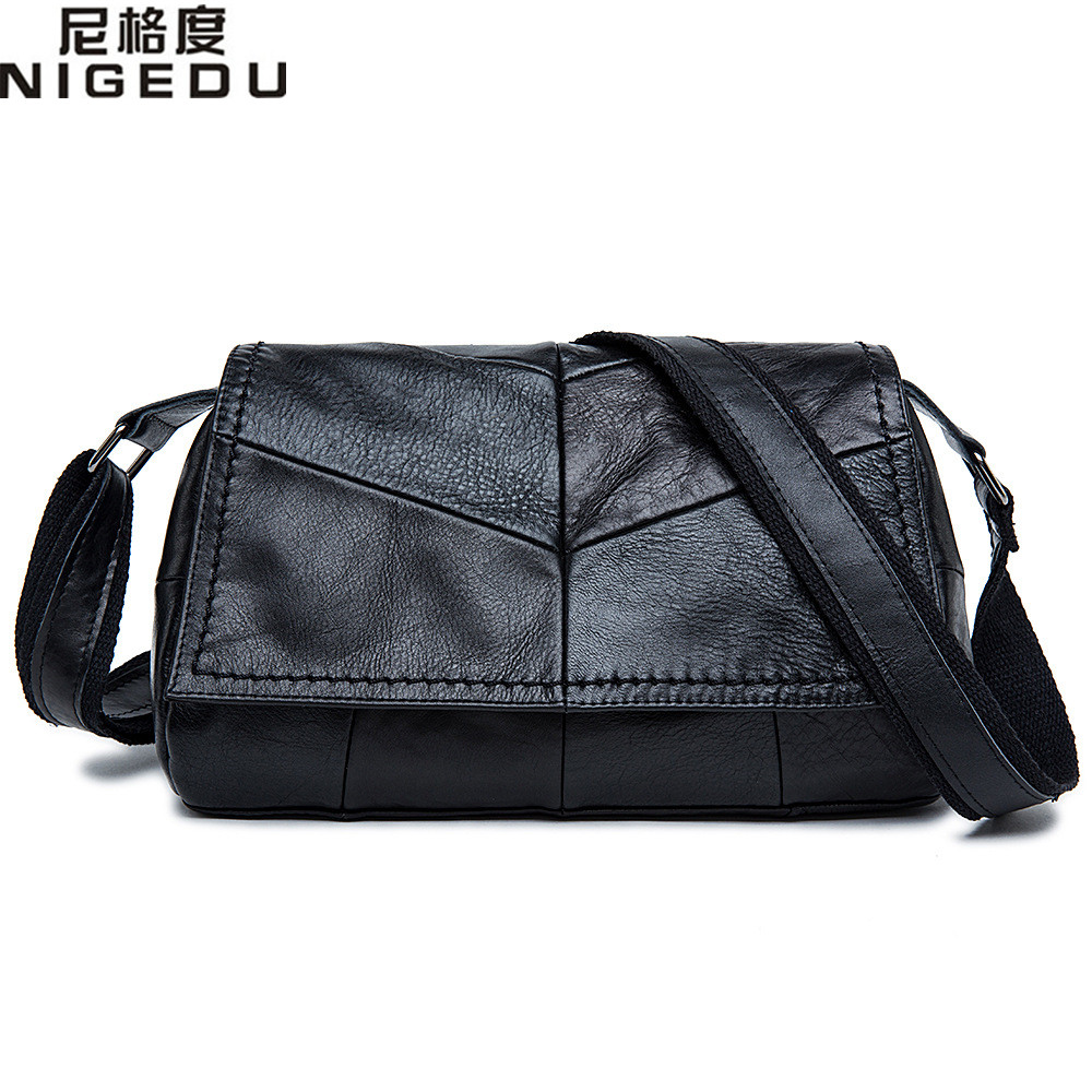 ФОТО 2017 New fashion genuine leather Crossbody Bags for women messenger bag high quality Cowhide shoulder bag black Handbags bolsa