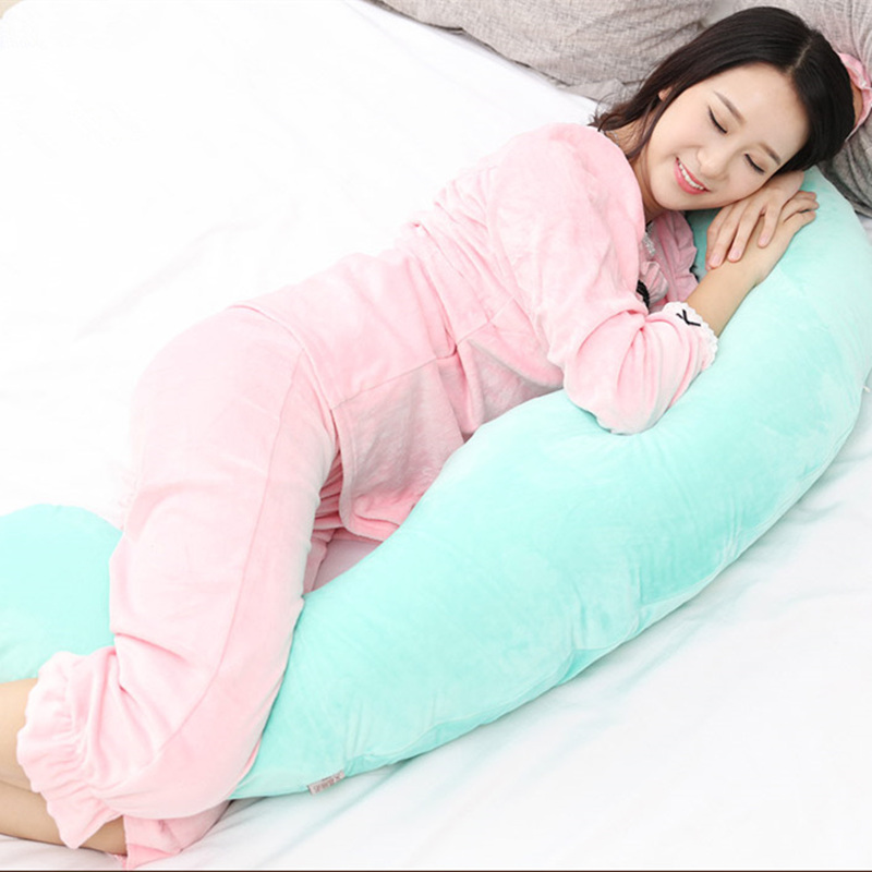 New Style 130*60*18cm C Shape Pregnant Pillow Baby Protector Maternity Side Sleeping Pillows Pregnancy Bedding Nursing Waist Pad