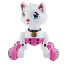 Speak English Robot Interactive Puppy Jenx Voice Recognition Intelligent Electronic Toy Dog Cat(China)