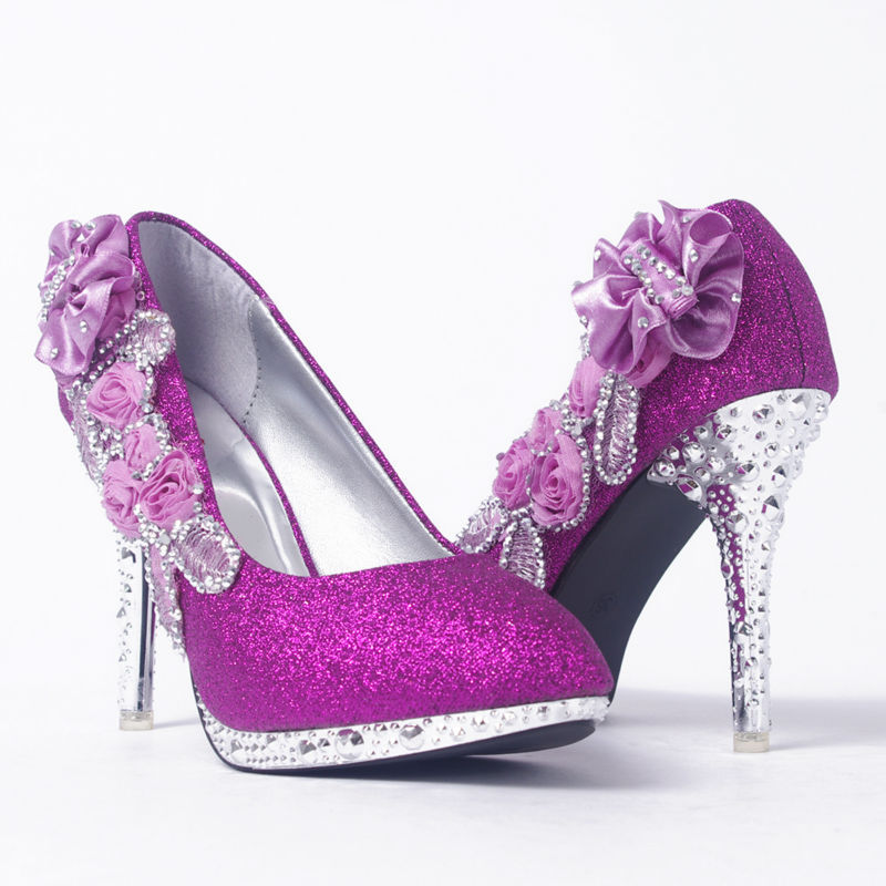 Wedding Silver Heels: Wedding Shoes Glitter Gorgeous Bridal Evening Party