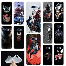 Venom Marvel Villain Pattern Soft Silicone Phone Back Case Cover For Samsung Galaxy S6 S7 Edge S8 S9 S10 plus E Note 8 9 10 pro