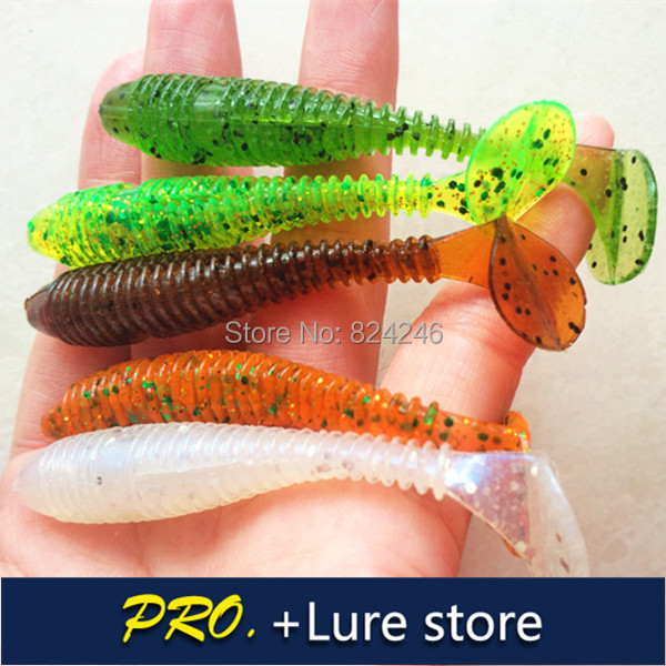 Free shipping 40pcs Promotion!!! fishing lure soft fishy smell T tail with salt lure Japan soft fishes lure tackle swim bait riechen