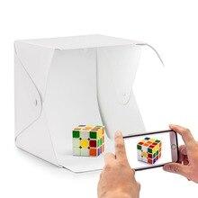 Купить с кэшбэком Portable Mini Foldable Camera Photo Studio Soft Box LED Photography Backdrop LED Light Room Tent Tabletop Shooting Lightbox Room