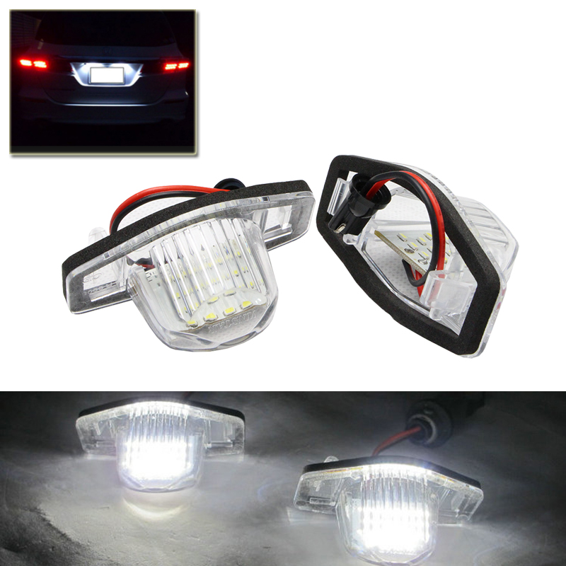 Plug-N-Play White For Honda Crosstour CR-V Insight Odyssey Civic Coupe Car Auto Led Number License Plate Lights Lamp Car-Styling рубашка в клетку insight jin n tonic trenches
