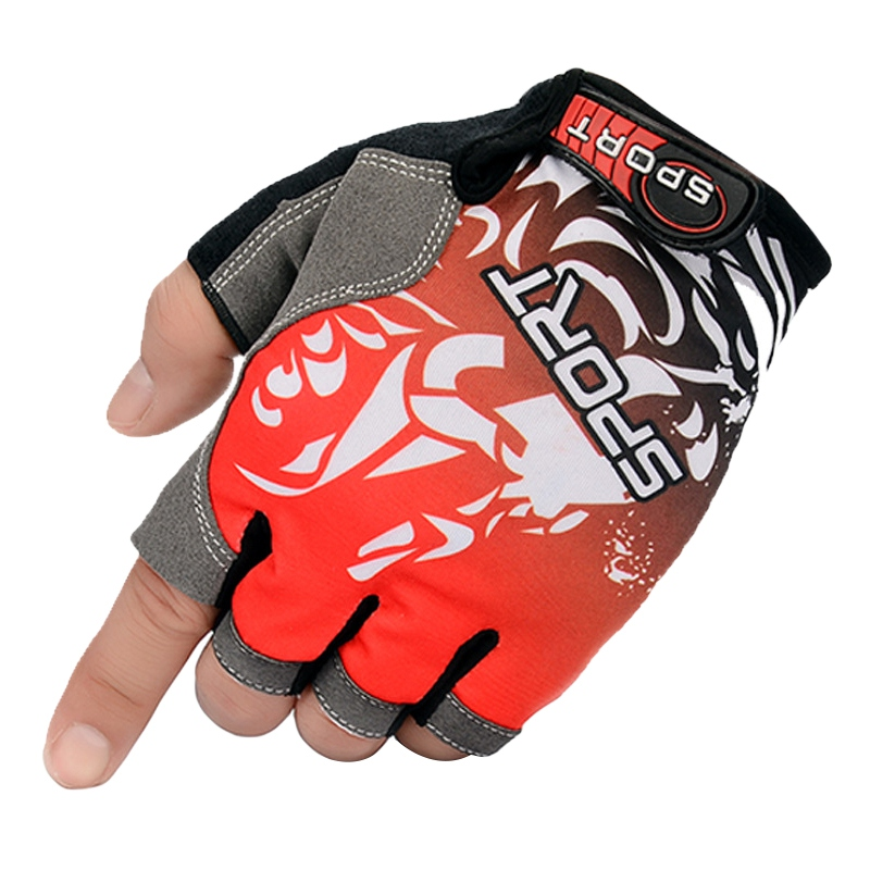 New Half Finger Cycling Gloves Bike Gloves Sports Fishing Gloves Breathable Anti Slip Gel Pad Motorcycle MTB Road image