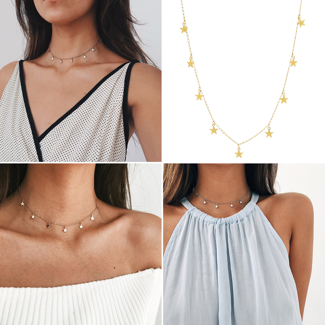 High Quality Hot Fashion Simple Five-pointed Star Pendant Necklace Beauty Small Pendant Simple Women's Necklace