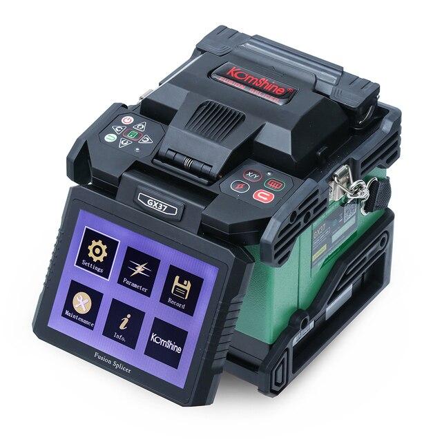 Komshine أحدث GX37 البصرية الألياف الانصهار جهاز الربط مع زوج واحد أقطاب و KF 52 عالية الدقة البصرية الألياف الساطور