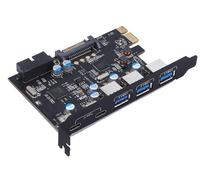 PCI Express Card to 3 PORTS USB 3.0 2 PORTS USB3.1 Type C Internal USB 3.0 20PIN 7 Ports USB HUB pcie to Tyoe c Converter Card