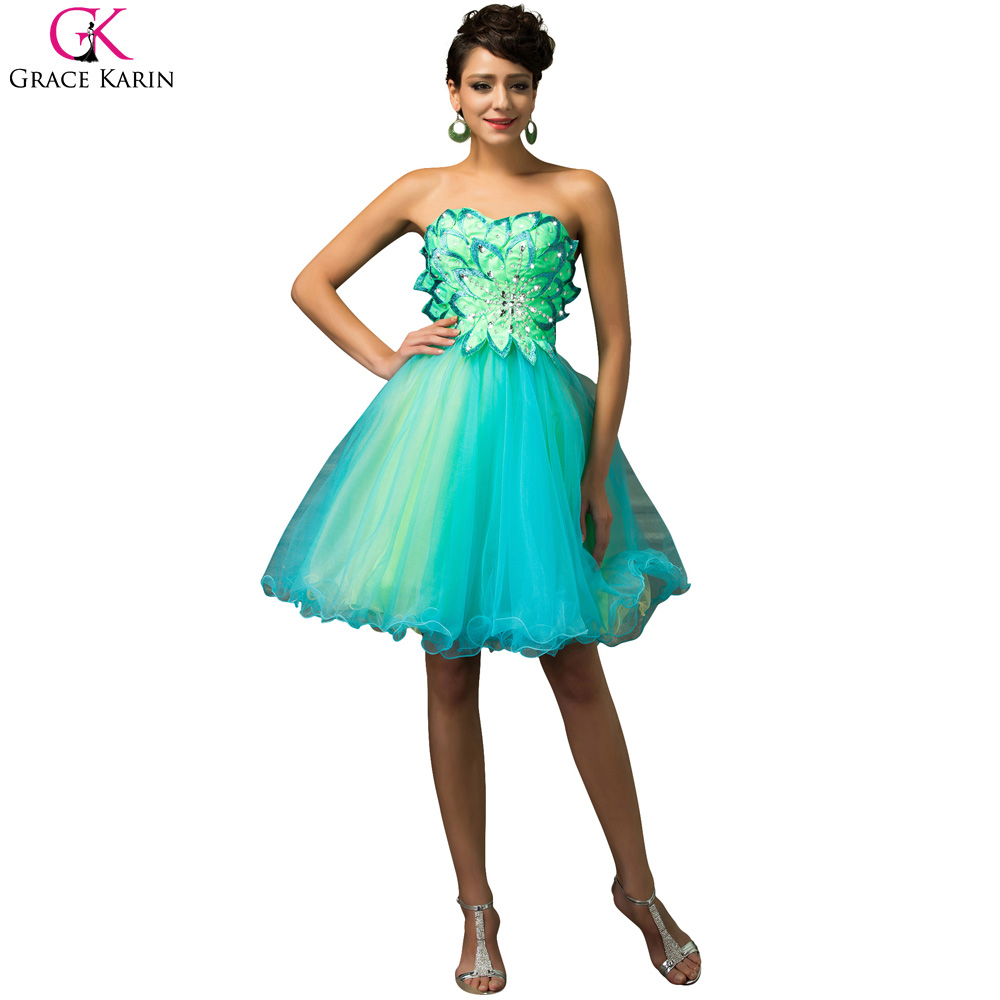 Grace Karin Turquoise Prom Dresses 2016 Ball Gown Prom Dresses ...