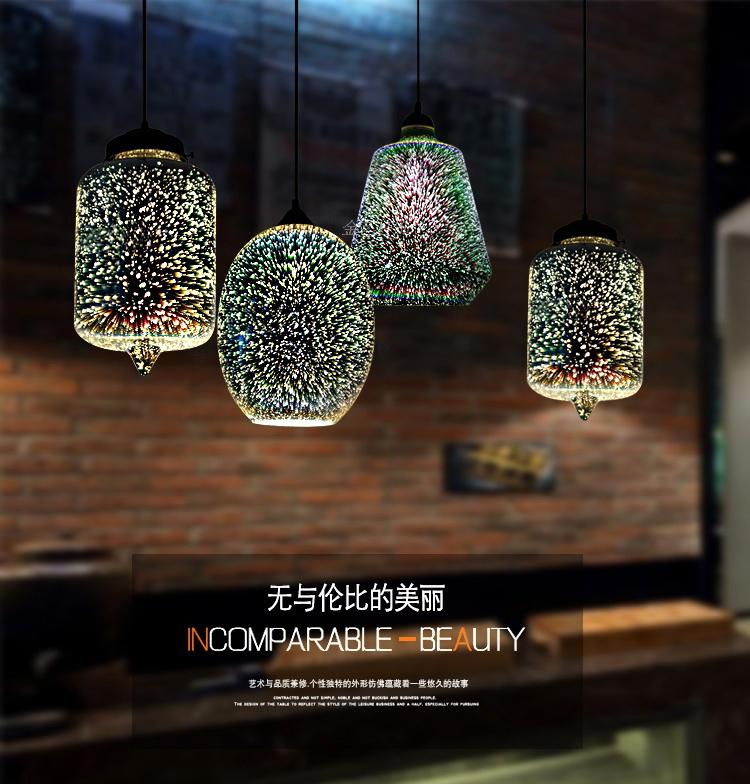 Modern Led colorful Plated 3D glass pendant light Mirror glass Ball lampshade for restaurant cafe bar dining living room lamp creative fashion plated glass 3d led e27 pendant light for dining room living room restaurant bar glass pendant lamps 1483