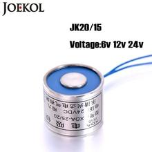Ücretsiz kargo JK20/15 DC 6V 12V 24V elektromıknatıs, kaldırma 2.5KG/25N Solenoid enayi Holding elektrik mıknatıs standart dışı özel