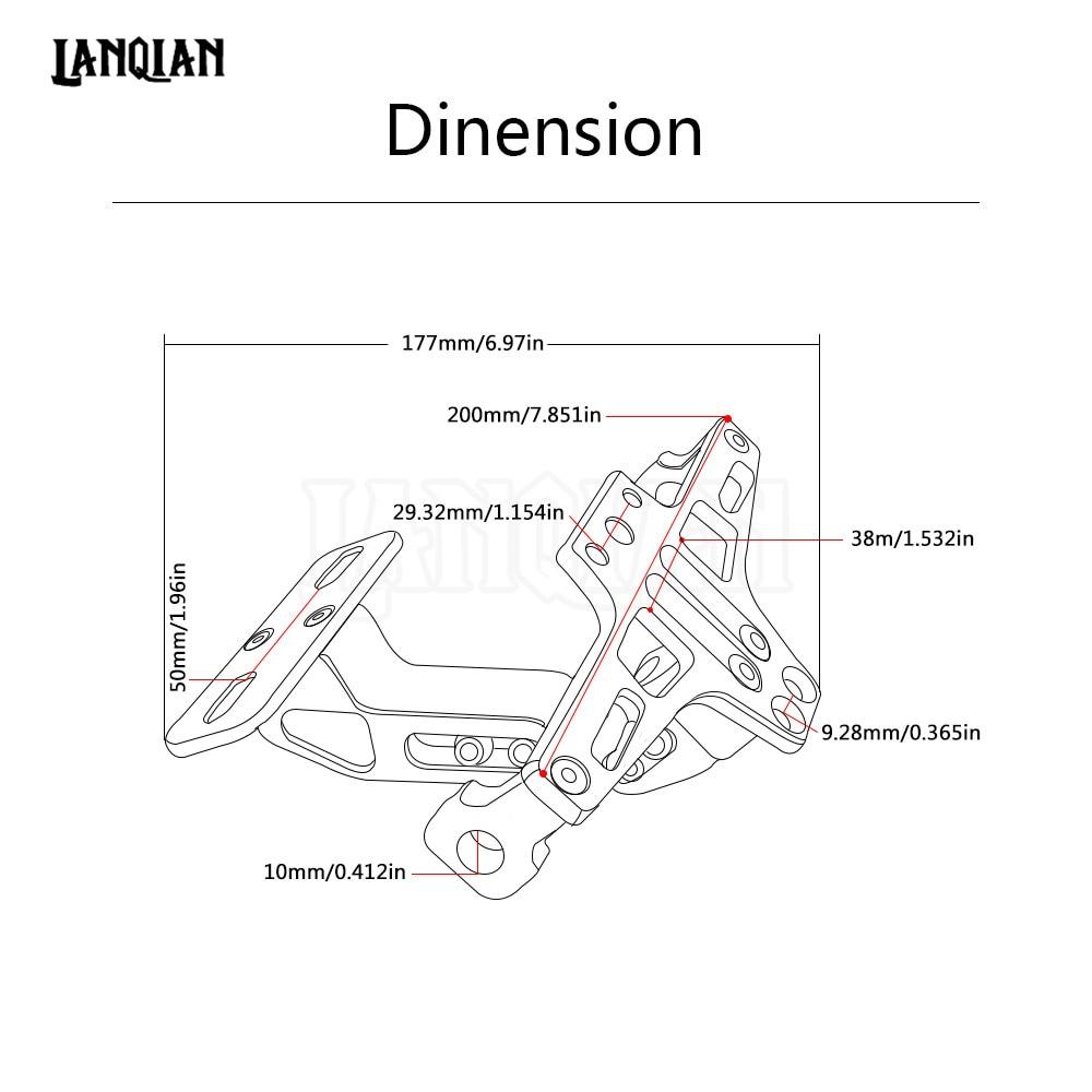 Hitam Sepeda Motor Aluminium Lisensi Bingkai Plat Nomor Pemegang Frame Cover Braket Dengan Cahaya Untuk Streetfighter Ducati Rakasa 696 796 1100 848 Di Dari Mobil