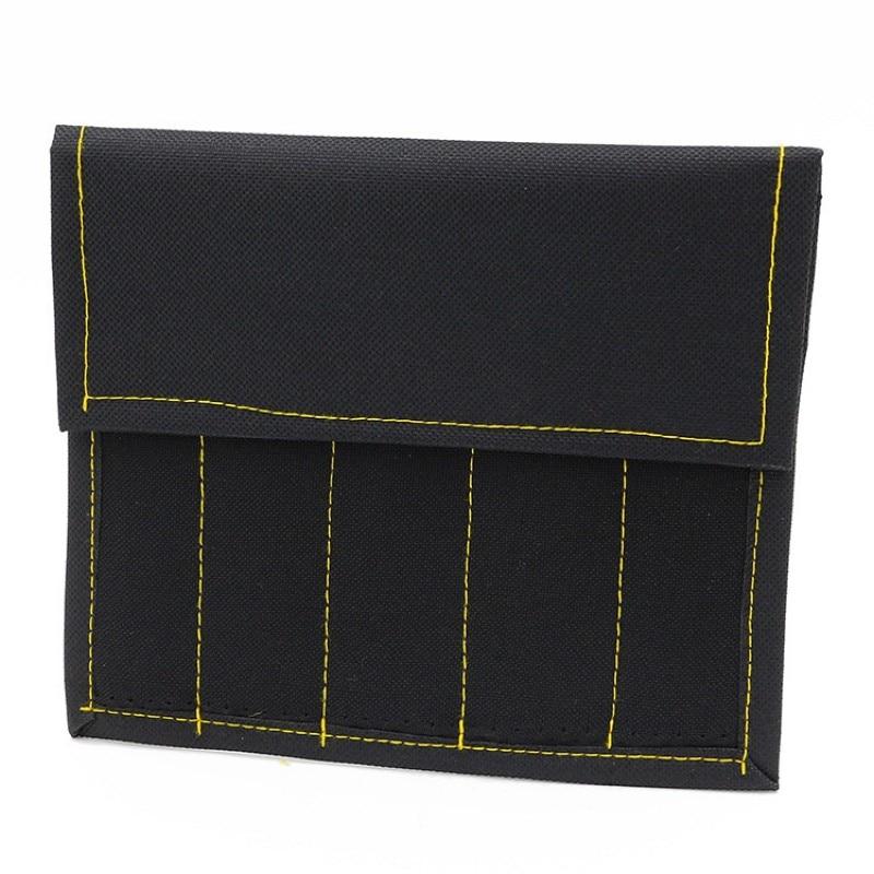 1 Pcs Oxford Cloth Tool Bag Five Grid Kit Canvas Knife Bag Toolbox
