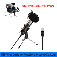 USB Microphone Wired Condenser Microphone Professional Studio Mic for PC Laptop Computer Live Broadcast