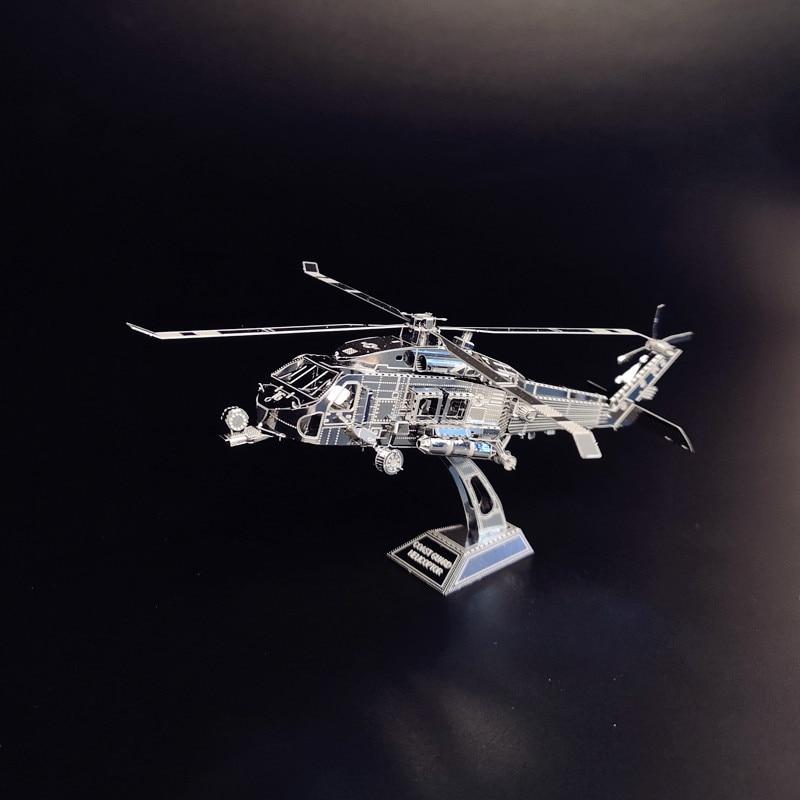 PENYELAMBUNG TANAH HELICOPTOR NANYUAN D12201 Teka-teki 3D DIY - Teka-teki - Foto 3