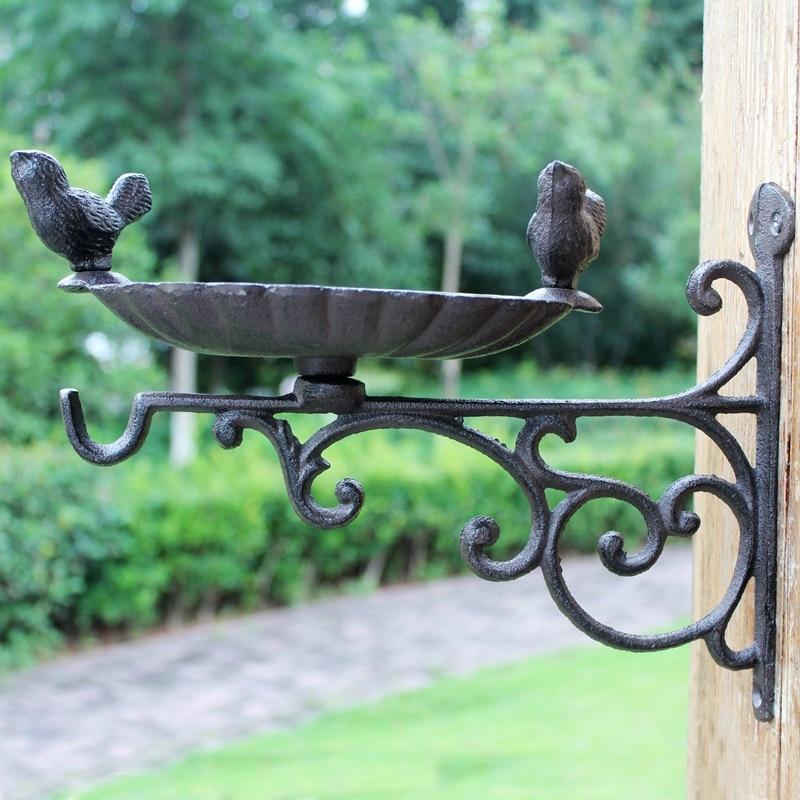 Big Bird Bath Antique Style Garden Decoration County House Cast Iron New